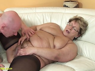 hairy 78 time eon old bbw granny far sexy stoxkings enjoys a rough fucking lesson