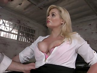 Perverted drives can't resist fucking big boobs and juicy cunt be proper of sexy milf Katy Jayne