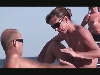 Nude Beach - Horny Couples - Hottie Public Playing