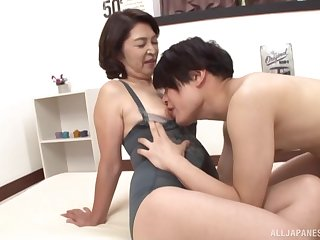 Mature from Tokyo, designing time getting laid with her nephew