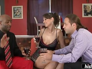Syren De Mer seduces a black stallion and goes wild on his huge detect