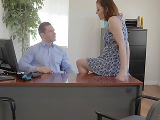 Busty office whore Sovereign Syre gets pounded more than top of her boss's desk