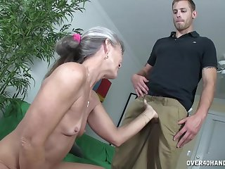 Lean mature Lailani Lei gets pleasured increased by strokes a dick