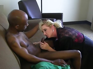 Matured white wife in fancy with his big black dick
