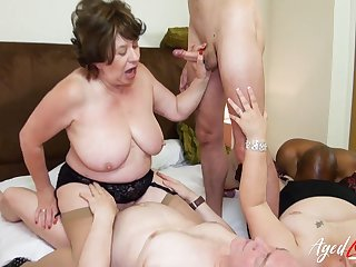 AgedLovE British Matures Gangbang Bodily Party