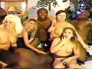 Mating Orgy Interracial - group sex love making