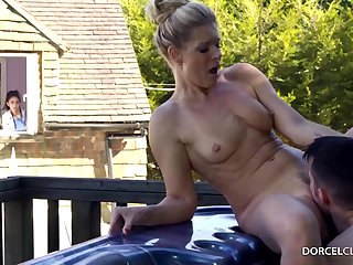 Married peaches unshaded back big tits, India Summer is cheating in the first place her husband, in the backyard