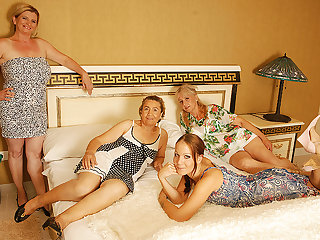One Old And Young Lesbians Having A Bristols Party - MatureNL