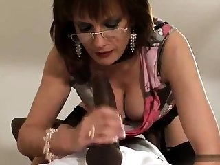 Mature together with take charge amateur fit together blowjob together with anal creampie