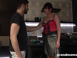 Hot nextdoor granny turned here be a blowjob expert and insatiable old whore