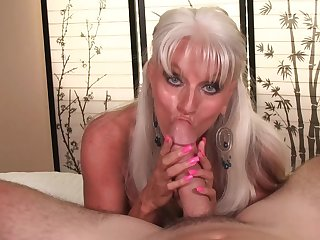 Big-chested granny Sally D'Angleo gives team a few Tophet of a POV blow