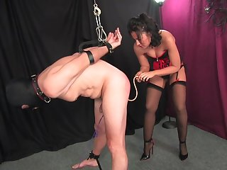 Median unspecified ass fucks her slave with the addition of lets him cum on her