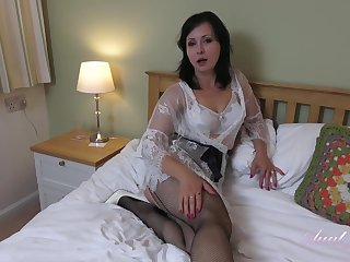 Wanilianna is wearing dark fishnets space fully masturbating down her bedroom, down front of the camera