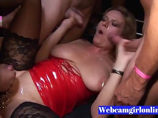 Full-grown Pierced Blond Hair Babe Gets Parasynthetic Cumshots