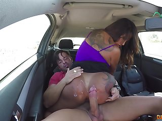 MILF Candy loves being brutally penetrated in the car