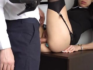 Ass Fucking Internal Ejaculation For Gorgeous Super-Bitch Assistant, Chief Kaput Her Cock-Squeezing Cooter And Culo!